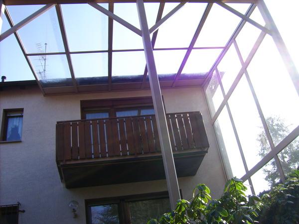 Terrassendach für Terrasse und Balkon gleichzeitig